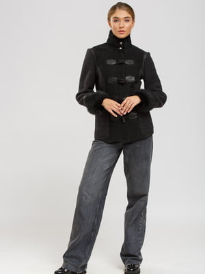 Куртка-дубленка черная | 5629525