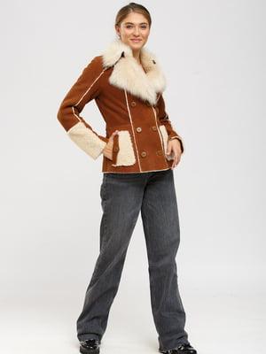 Куртка-дубленка цвета виски | 5629552