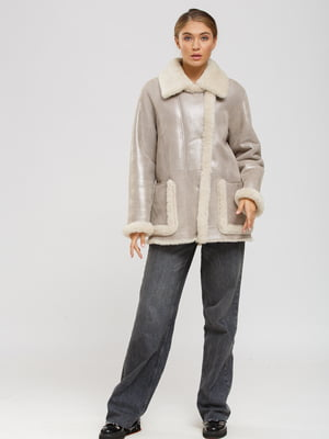 Куртка-дублянка бежева | 5629557