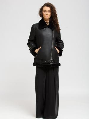 Дубленка-куртка черная | 5629559