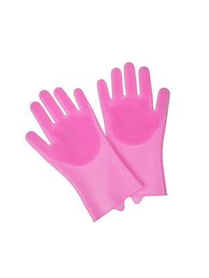 Перчатки розового цвета | 5629125