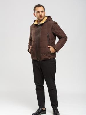 Дубленка-жилет коричневая | 5629629