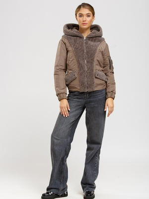 Куртка-дубленка цвета какао | 5629652