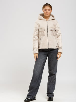 Куртка-дубленка светло-бежевая | 5629655