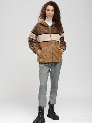 Дублянка-куртка коричнево-бежева   5629665