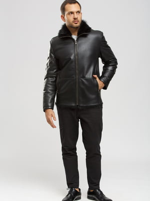 Куртка-дубленка черная | 5629679