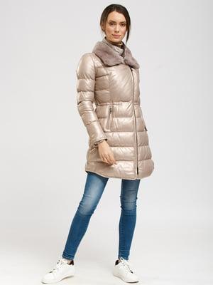 Куртка цвета пудры металлик   5629744