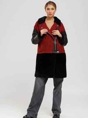 Куртка-дублянка червоно-чорна | 5629755
