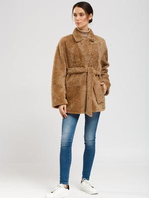 Куртка-дублянка двостороння світло-коричнева | 5629772