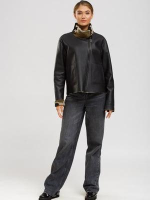 Куртка-дубленка черная | 5629779