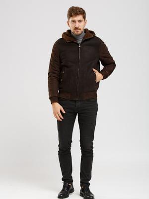 Куртка-дубленка коричневая   5629788
