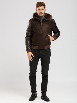 Куртка-дубленка коричневая   5629789