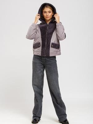 Куртка-дублянка сіро-фіолетова | 5629827