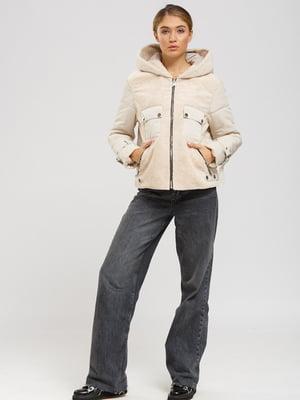 Куртка-дубленка светло-бежевая   5629828