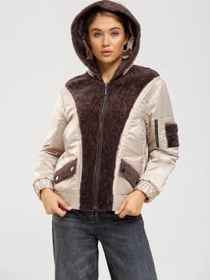 Куртка бежево-рожевий | 5629829