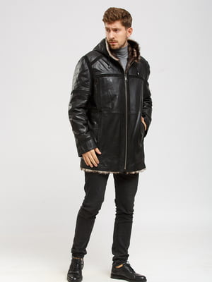Куртка-дубленка черная   5629847