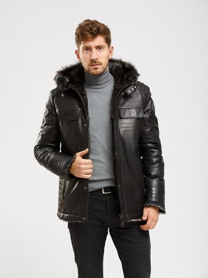 Куртка-дубленка черная   5629852