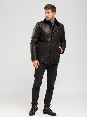 Куртка-дубленка черная | 5629873