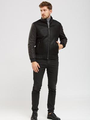 Куртка-дубленка черная | 5629874
