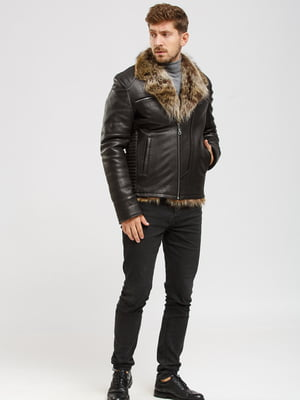 Куртка-дубленка коричневая | 5629876