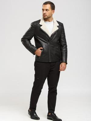 Куртка-дубленка черная | 5629878