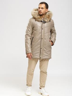 Куртка-дубленка бежевая   5629882