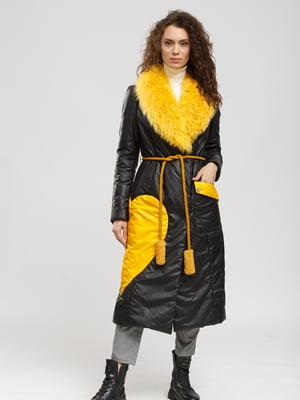 Пальто чорно-жовте | 5629889
