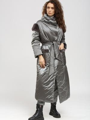 Пальто серое   5629890