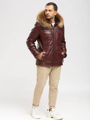 Куртка бордово-коричневая   5629892