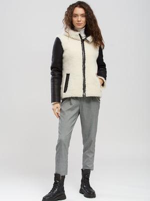 Куртка-дублянка чорно-біла   5629900