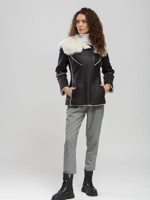 Куртка-дубленка черно-белая | 5629901