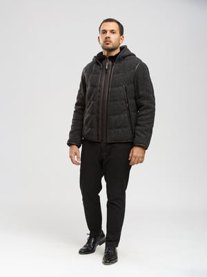 Куртка-жилет серо-коричневая | 5629977