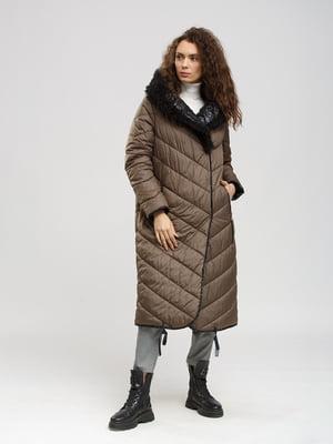 Пальто двустороннее черно-серое   5629983