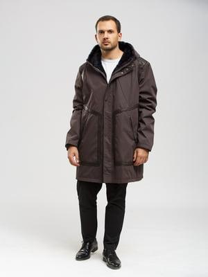 Куртка серо-коричневая   5629987