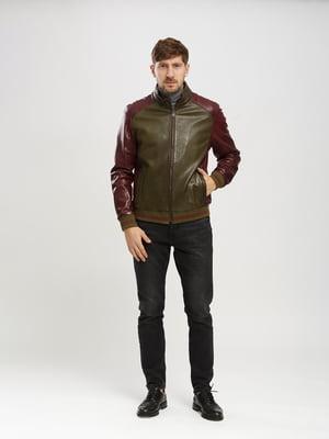 Куртка зелено-бордовая   5630048