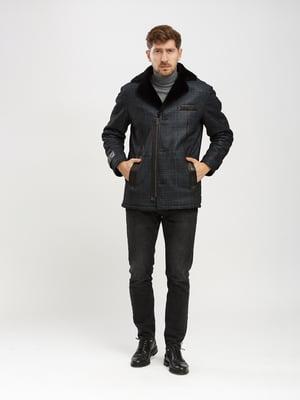 Дубленка-куртка темно-синяя | 5630074