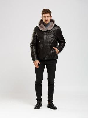 Куртка-дубленка черная | 5630076