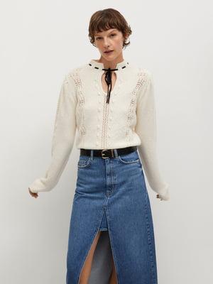 Пуловер молочного кольору | 5630124