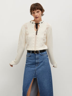 Пуловер молочного цвета | 5630124