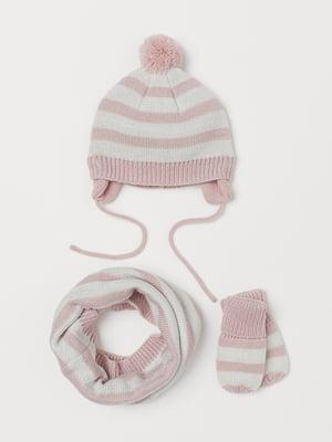 Комплект: шапка, шарф-хомут и варежки | 5630484