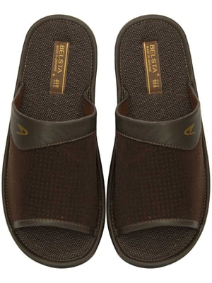 Тапочки коричневые   5631097