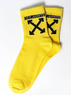 Шкарпетки жовті з малюнком   5631140