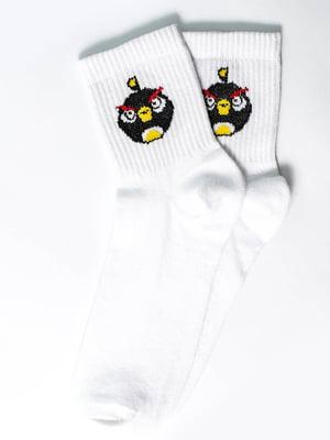 Носки белые с рисунком | 5631156
