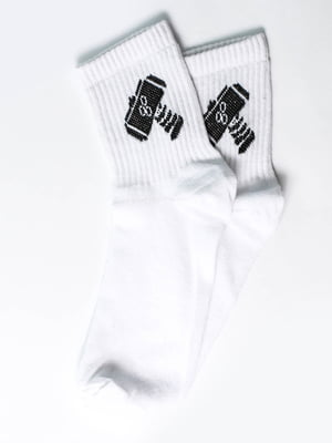 Носки белые с рисунком | 5631163