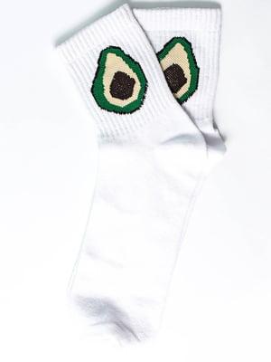 Носки белые с рисунком | 5631168