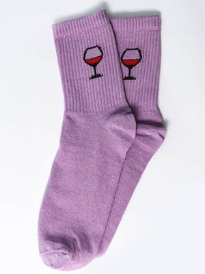 Носки фиолетовые с рисунком | 5631170