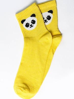 Носки желтые с рисунком | 5631189