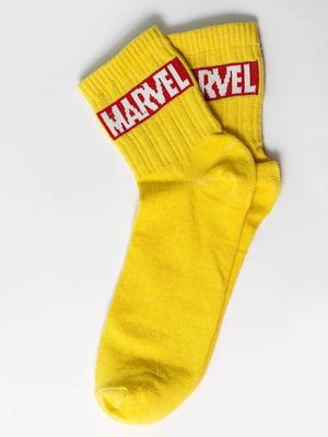 Носки желтые с надписью | 5631192