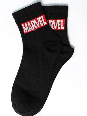 Носки черные с надписью | 5631193