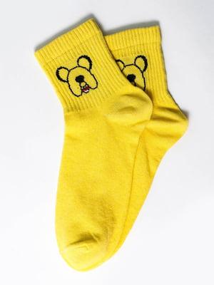 Носки желтые с рисунком | 5631198